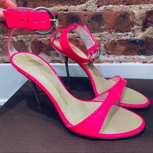 Giuseppe Zanotti Hot Pink Stiletto Heels